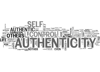 AUTHENTIC SUCCESS TEXT WORD CLOUD CONCEPT